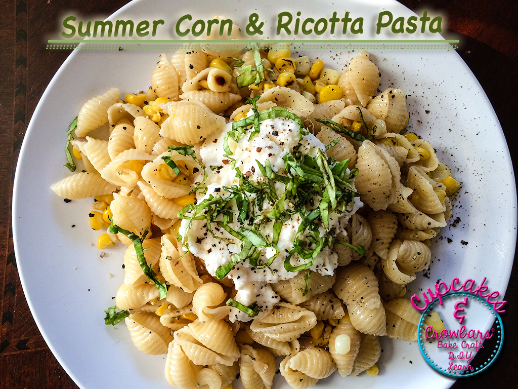 Fresh and flavorful corn and ricotta pasta recipe.