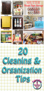 20 Cleaning and Organizing Tips www.cupcakesandcrowbars.com