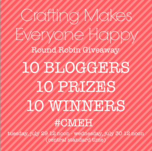 Crafting Makes Everyone Happy Giveaway 07.29.14-07.30.14 http://www.cupcakesandcrowbars.com