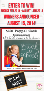 Back To School Giveaway $600 in prizes! http://www.cupcakesandcrowbars.com
