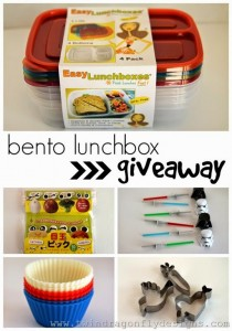 Awesome Bento Lunch Box Giveaway http://www.cupcakesandcrowbars.com