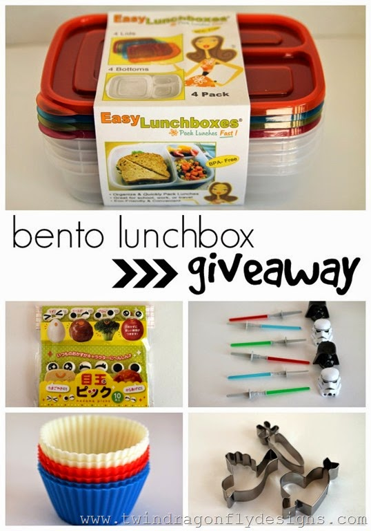 giveaway bento lunch box accessories cupcakes crowbars. Black Bedroom Furniture Sets. Home Design Ideas