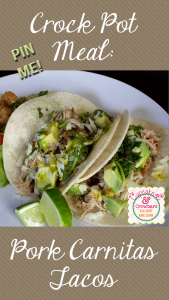 Simple and delicious carnitas right from the crock pot. via http://www.cupcakesandcrowbars.com @cupcakescrowbar