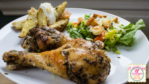 Savory Oven Roasted Chicken and Potatoes via http://cupcakesandcrowbars.com @cupcakescrowbar