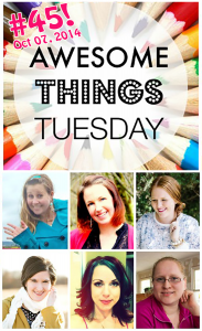 Awesome Things Tuesday 45 Link Party via http://cupcakesandcrowbars.com @cupcakescrowbar