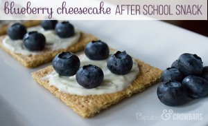 Easy Blueberry Cheesecake After School Snack | Cupcakes&Crowbars @cupcakescrowbar