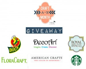 Craft Month A-Z Giveaway