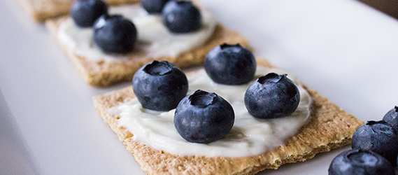 "Blueberry ""Cheesecake"" Crackers"