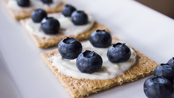 "Blueberry ""Cheesecake"" Crackers"